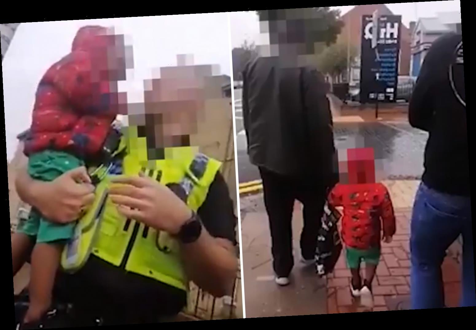 Sobbing toddler found wandering Hull streets completely ALONE until hero passer-by saves him and calls police