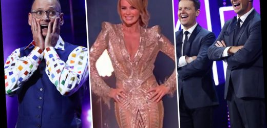 Britain's Got Talent's first semi-final sees funnyman Steve Royle triumph while Amanda Holden wows in plunging gown