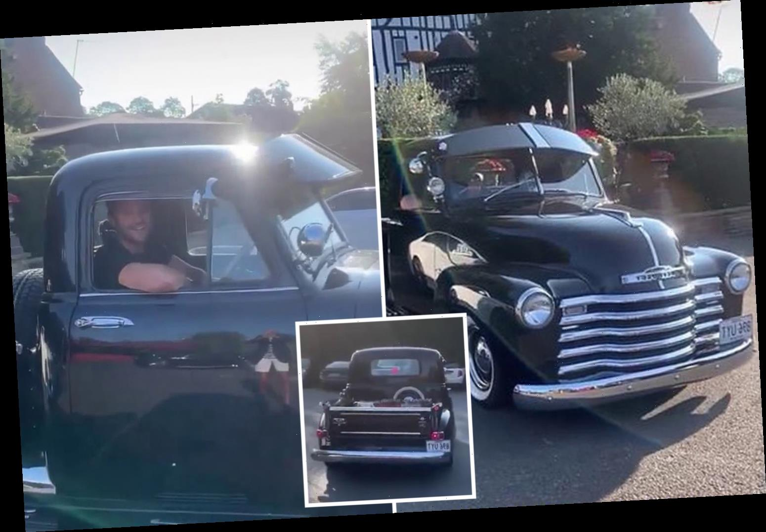 Mark Wright goes for a spin in enormous £41k American pick-up truck after lunch with Arg in Essex