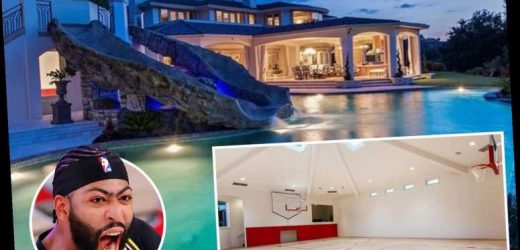 Inside LA Lakers star Anthony Davis's amazing mansion that has a pool with dual waterslides, basketball court and a spa