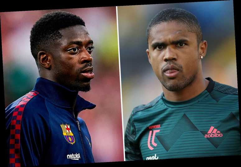 Juventus star Douglas Costa and Barcelona ace Ousmane Dembele linked with shock swap transfer in Wolves blow