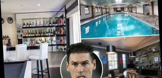 Inside ex-England star Gareth Barry's mansion that's had £1m slashed off asking price and includes own aircraft hanger