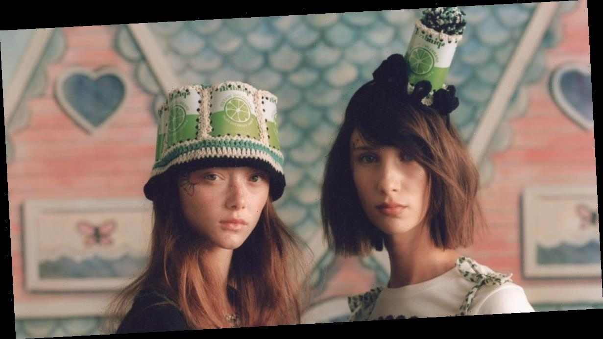 These Wildly Fun Spindrift Bucket Hats Were the Highlight of Anna Sui's Presentation
