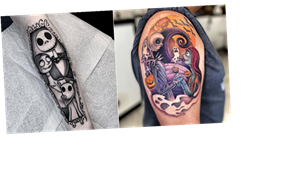 "19 Nightmare Before Christmas Tattoos That Are a ""Mess of Gorgeous Chaos"""