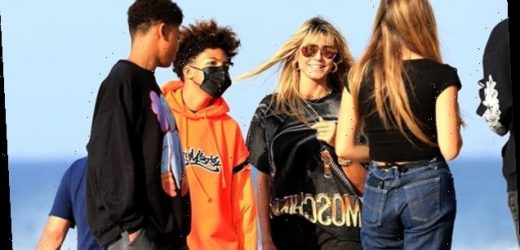 Heidi Klum's 4 Kids Look All Grown Up During Rare Family Beach Outing With Mom — Pics