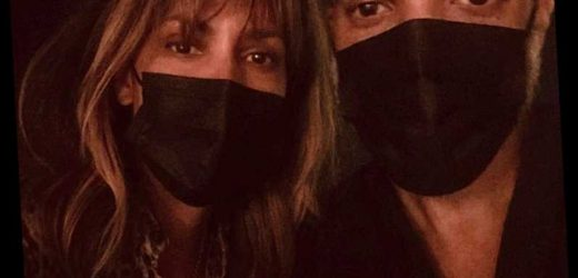 Halle Berry Poses with New Boyfriend Van Hunt in Matching Masks: 'You've Got to Coordinate'