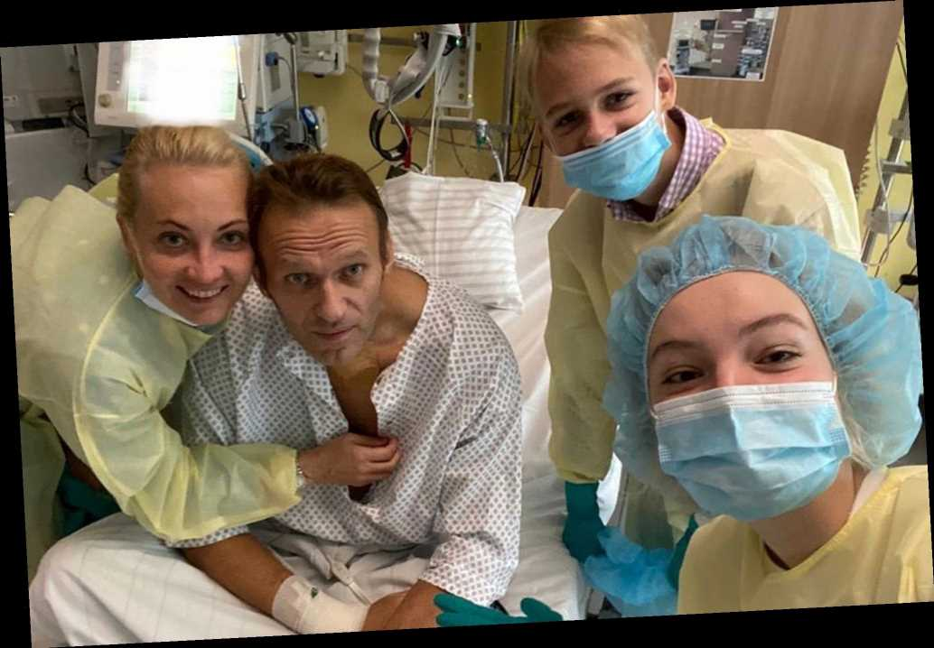 Alexei Navalny shares first photo from German hospital after poisoning