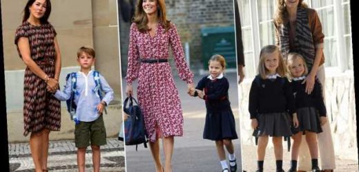 Royal mums on the school run! Kate Middleton, Queen Letizia and Co are just like us