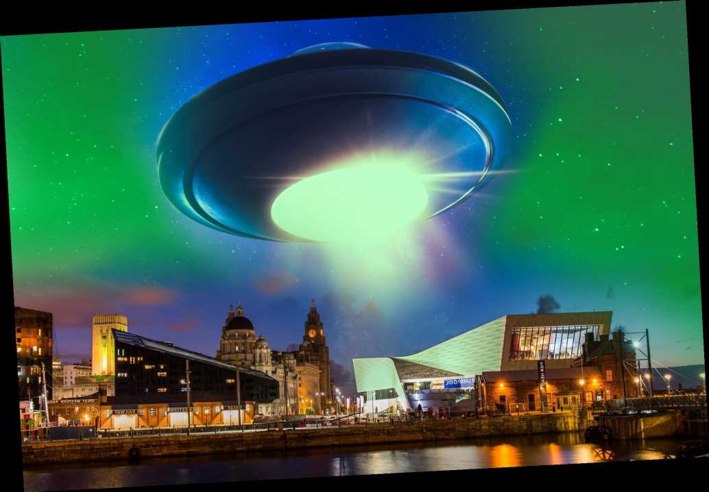 Green glowing 'flying saucer' spotted in skies over Liverpool