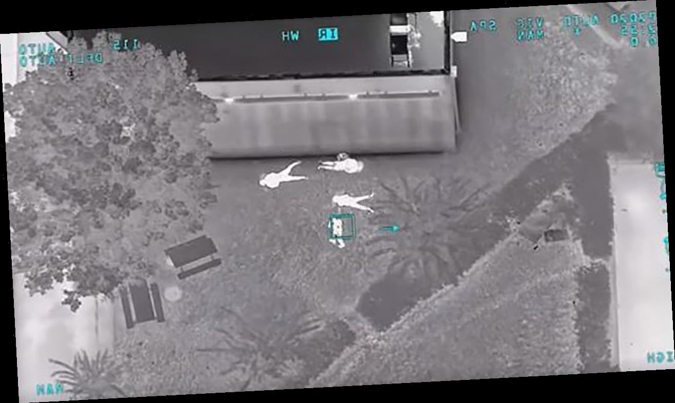 Florida deputy aboard helicopter helps capture suspected car thieves caught on camera in his driveway