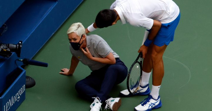 Novak Djokovic out of U.S. Open after accidentally hitting judge with ball