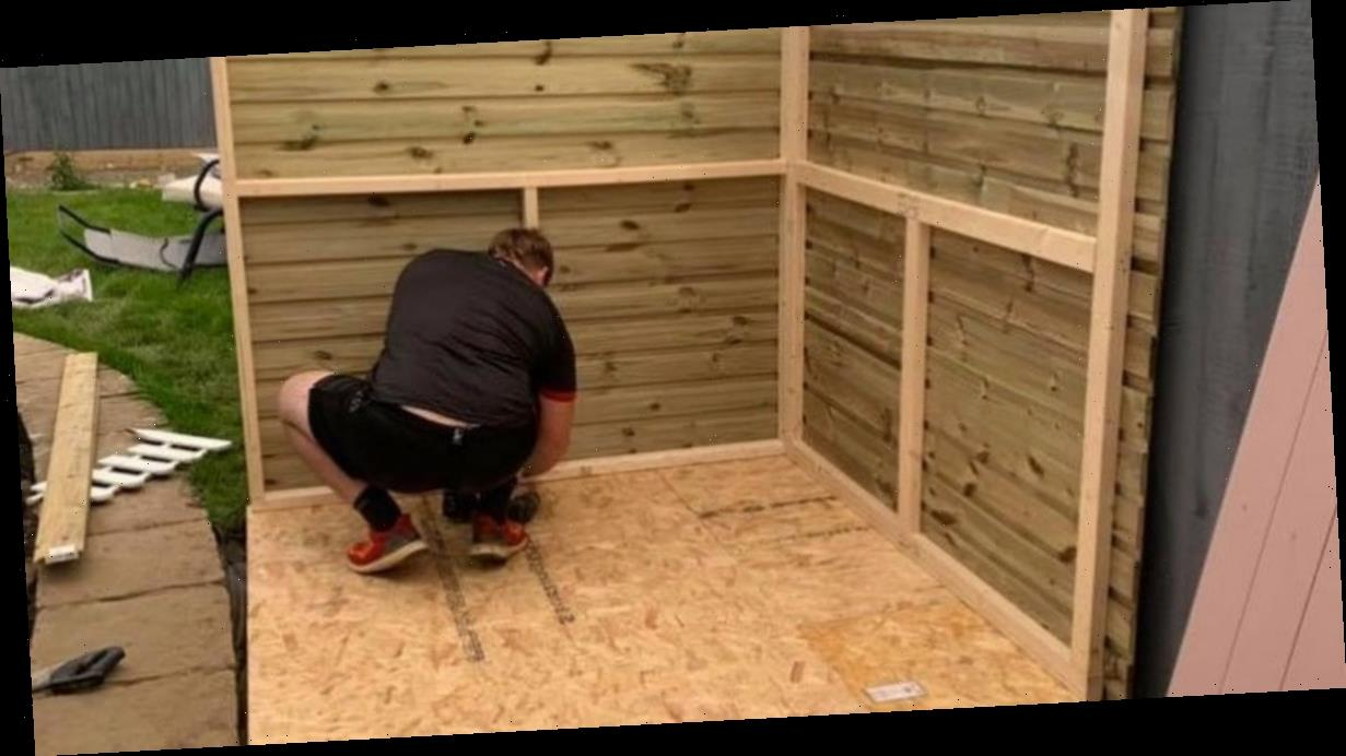 DIY couple build adorable playhouse for just £400 after being quoted £1,500