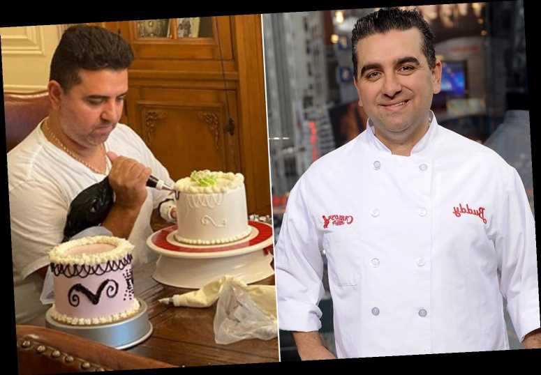 'Cake Boss' star Buddy Valastro tries to ice cake with left hand after injury