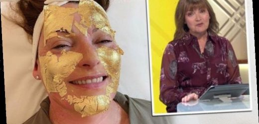Lorraine Kelly pictured having 'pure gold' facial 'Most relaxing hour I've had in months'