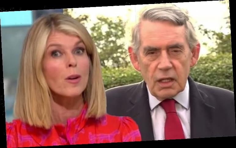 Kate Garraway touched as Gordon Brown delivers heartfelt message to her and husband Derek