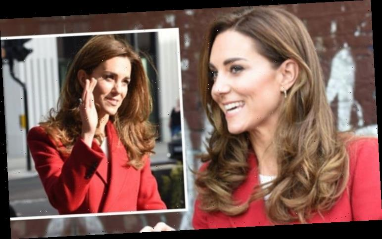Kate Middleton echoes Princess Diana in red McQueen coat for London visit with William