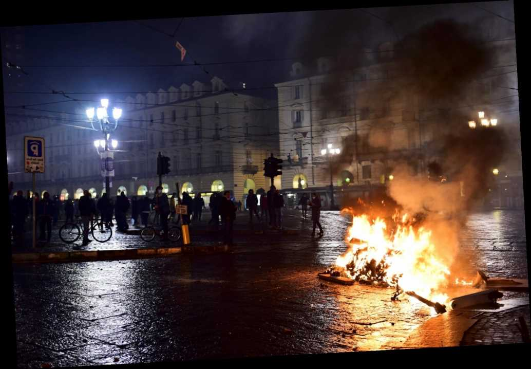 Italy sees violent protests against COVID-19 restrictions