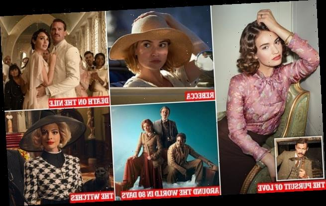 Lily James, Dominic West in The Pursuit of Love and other adaptations