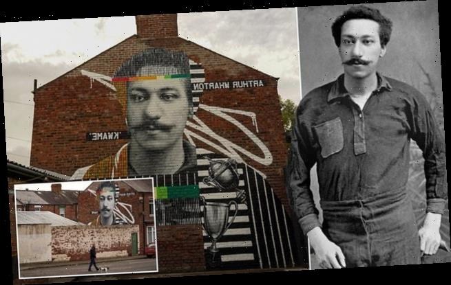 Stunning mural of world's first black professional footballer unveiled