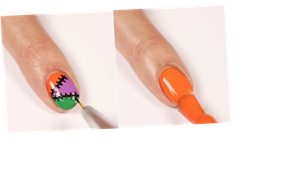 Easy Halloween Nail Art in Just 5 Steps? Sign Us Up With This Stitched Manicure
