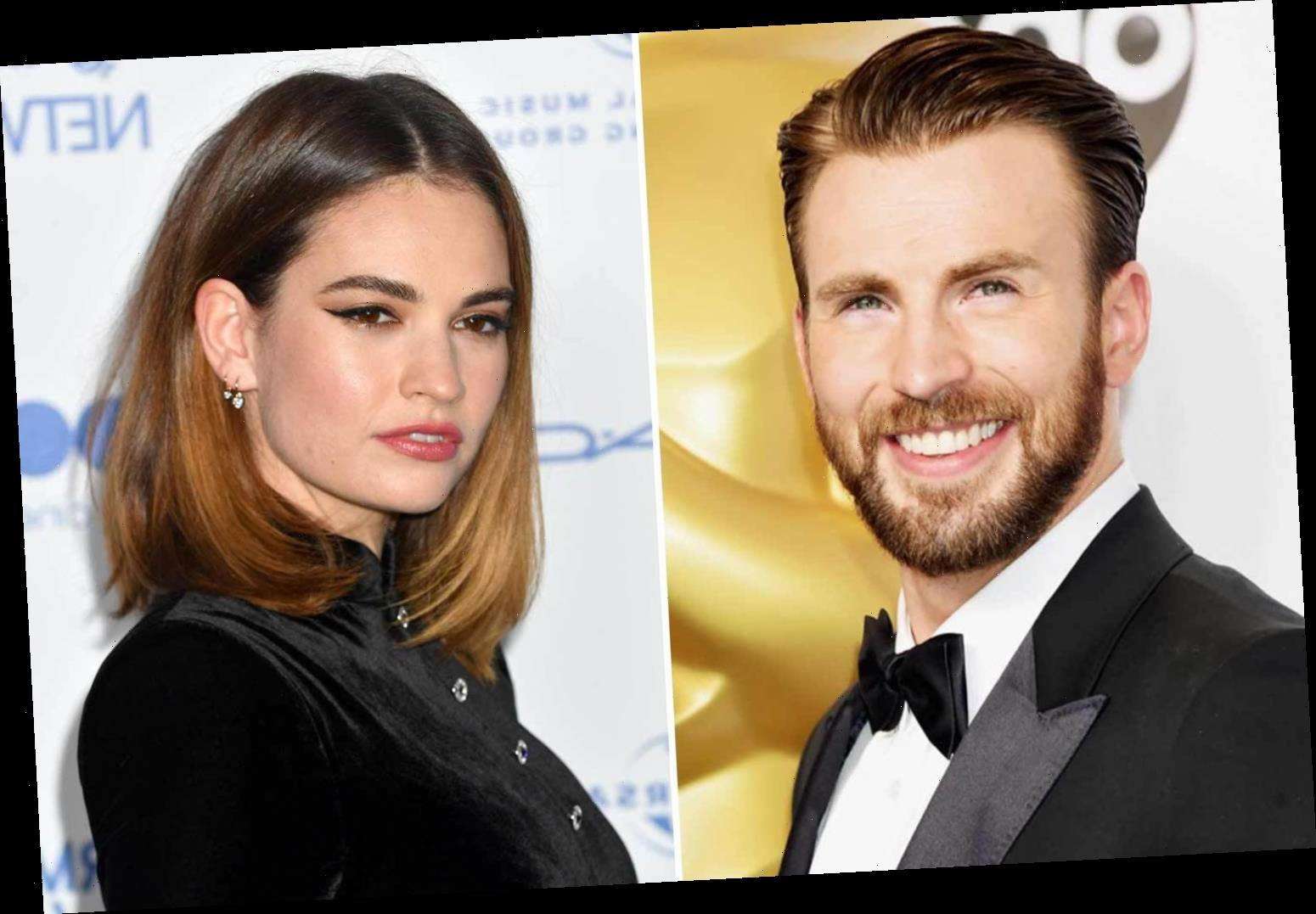 What did Lily James say about dating Chris Evans?