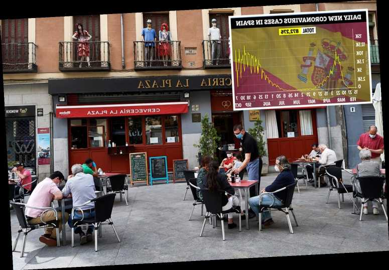 Spain's Covid cases start to fall WITHOUT closing bars or bringing in local lockdowns giving hope to Britain