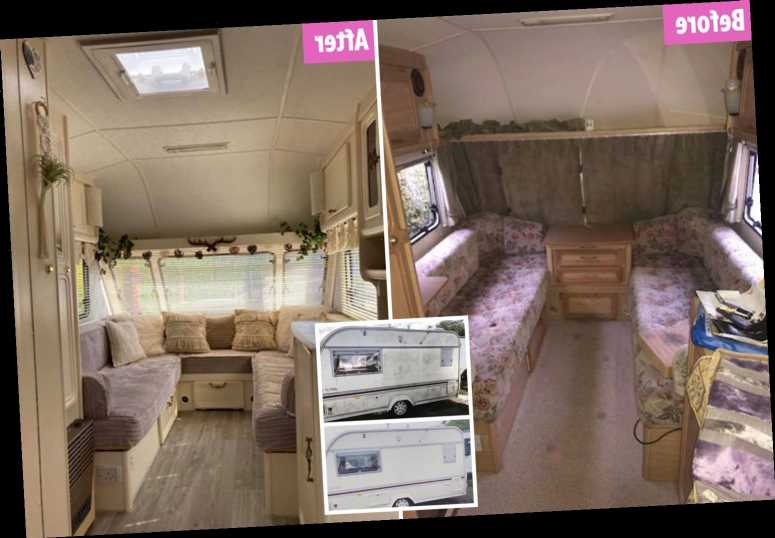 Couple revamp hideous caravan for barely anything – and the transformation is amazing