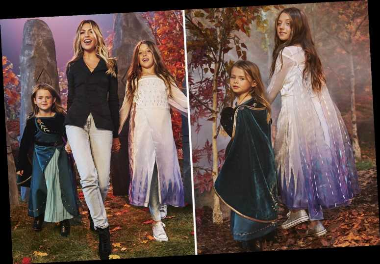 Abbey Clancy and Peter Crouch's kids follow in model mum's footsteps as they take to runway in Frozen 2 inspired shoot