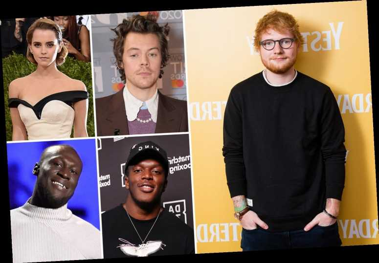 Ed Sheeran tops 30 under 30 Rich List with £210m fortune – and Harry Styles takes second place with £74m in the bank