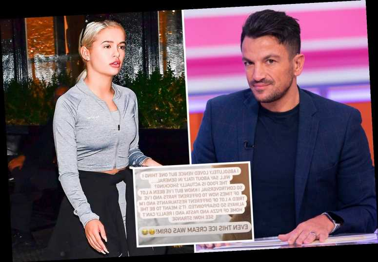 Peter Andre in rare bust-up with Molly-Mae Hague after she called Italian food 'shocking'