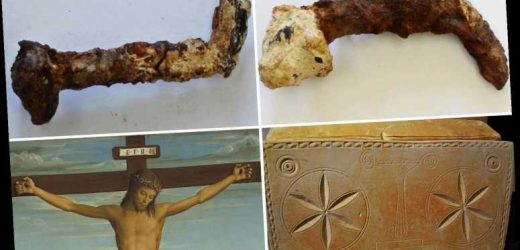 Nails 'used to crucify Jesus' have fragments of ancient bone and wood embedded in them, study reveals