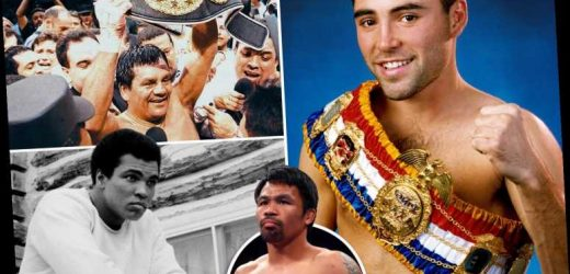 Mount Rushmore of boxing as we pick the top four best fighters ever and there's no room for Mike Tyson or Mayweather