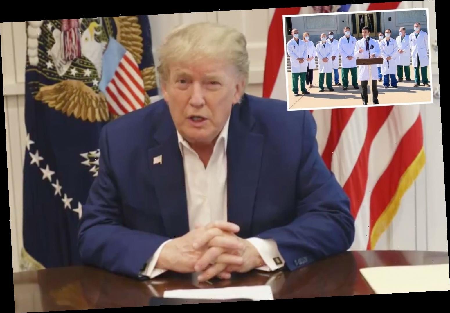 Trump posts video from hospital warning 'next few days will be real test' after day of chaos following Covid diagnosis