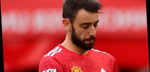 Man Utd concerned about Bruno Fernandes''mental and physical wear' after being subbed at half-time in Spurs drubbing
