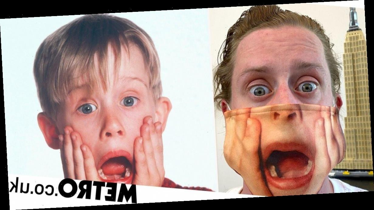Macaulay Caulkin dons Home Alone mask made of 'flayed skin of younger self'