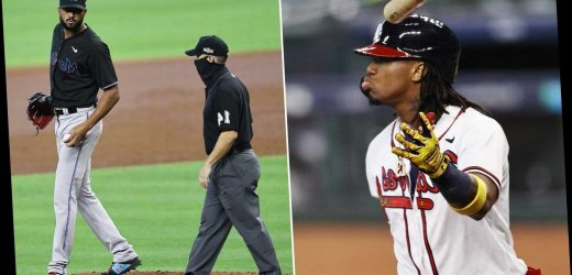 Ronald Acuna plunking revives Braves-Marlins bad blood: 'Ready to fight'