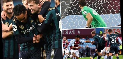 Aston Villa 0 Leeds 3: Patrick Bamford scores brilliant 19-minute hat-trick to stun in-form hosts at Villa Park
