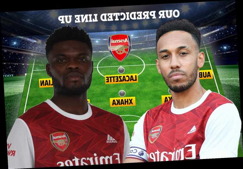How Arsenal could line-up against Leicester with Thomas Partey set for first Premier League start and Aubameyang recall