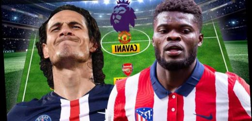 Best XI of new Premier League transfers revealed with Man Utd striker Cavani, Arsenal ace Partey and Chelsea's Silva in