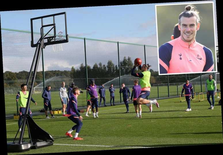Mourinho refuses to confirm Bale will play for Spurs vs West Ham as Welshman shows off his basketball skills in training
