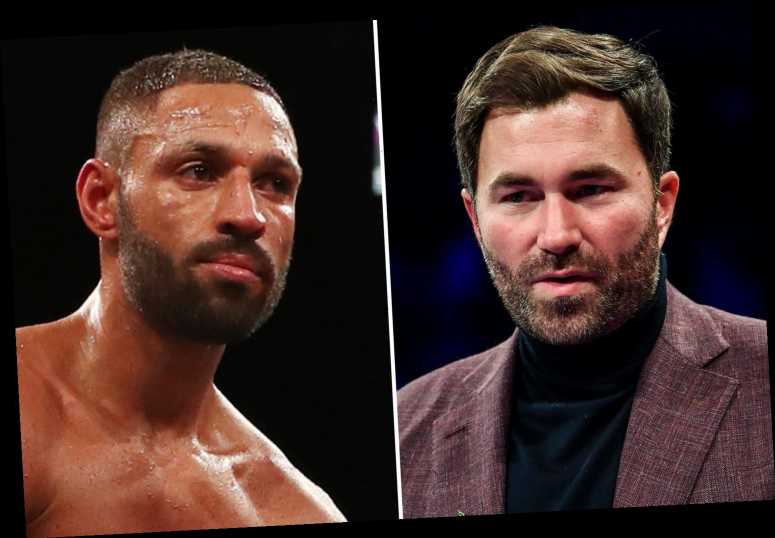 Angry Eddie Hearn tells old pal Kell Brook to stop talking 'b*****s' amid row over Crawford fight being on Sky Sports