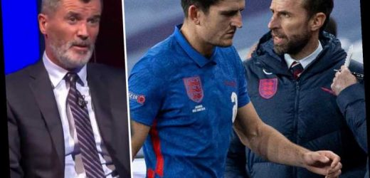 Roy Keane hits out at Southgate for not consoling Harry Maguire after England red card and sympathises with Man Utd ace