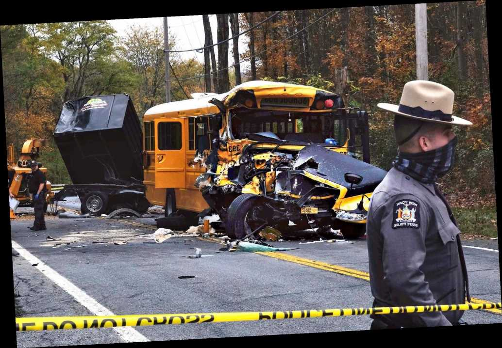 Young girl, two others seriously hurt in upstate school bus crash