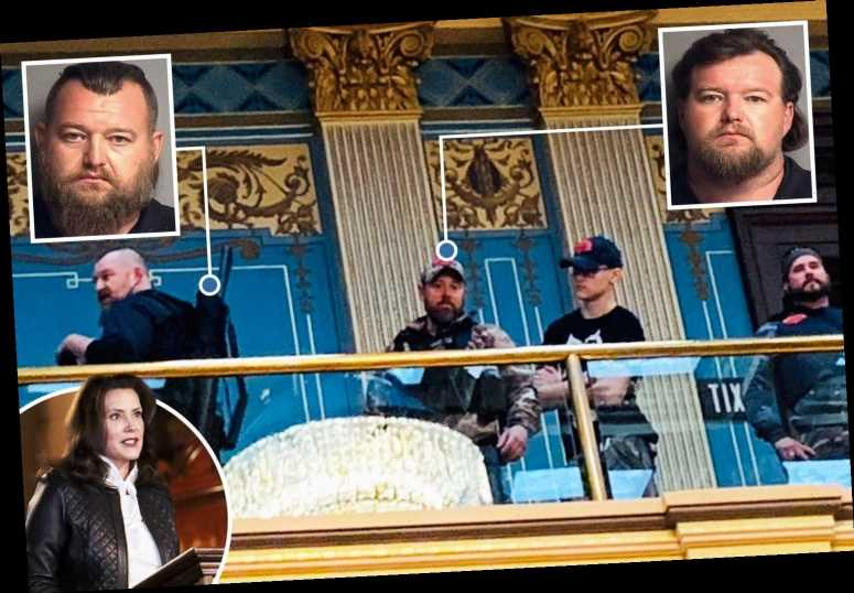 Chilling pics show Gov Whitmer kidnap and assassination plot suspects heavily armed at Michigan Capitol building