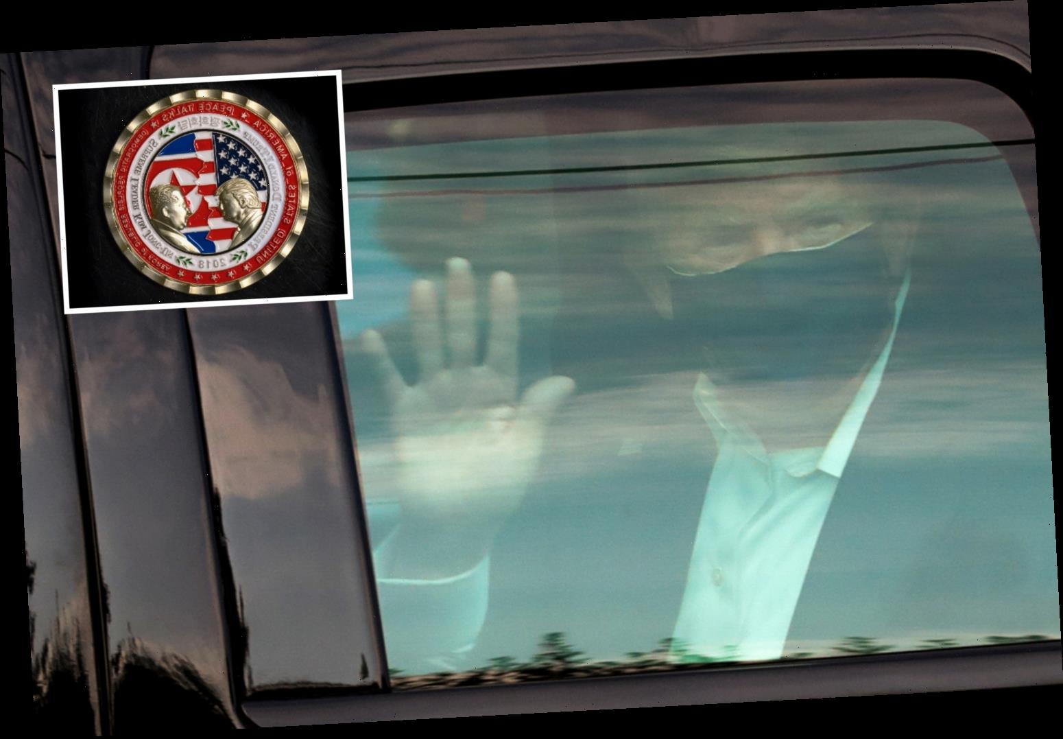 White House gift shop was ALREADY selling 'Trump defeated Covid' commemorative coins before he is released from hospital