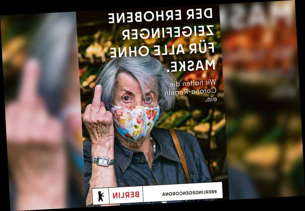 Berlin tourism ad gives the finger to people who don't wear masks