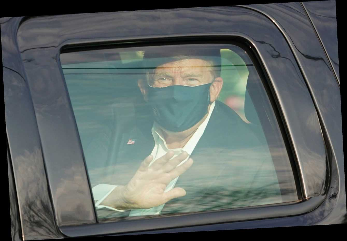 Donald Trump briefly leaves hospital to surprise supporters after video message saying he's 'learned a lot about Covid'