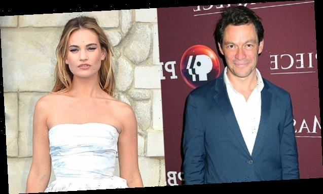 Married Dominic West Cozies Up To Co-Star Lily James On Lunch Date — See Pics Of 'The Affair' Actor