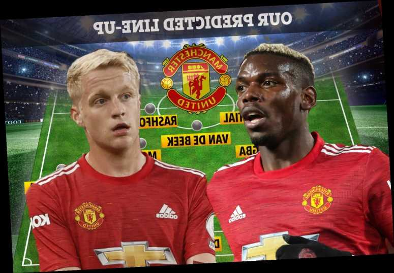 Five ways Man Utd's midfield could line up for RB Leipzig with Van de Beek and Pogba included as Solskjaer plans changes