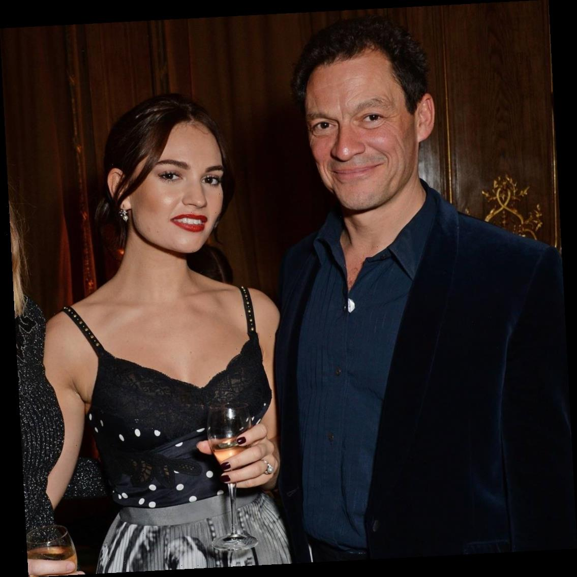 Lily James and Married Dominic West Spark Romance Rumors With Steamy Kiss